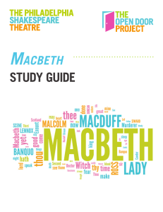 2016 Macbeth - The Philadelphia Shakespeare Theatre