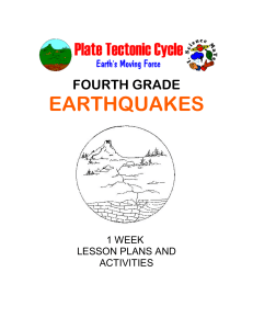 FOURTH GRADE EARTHQUAKES