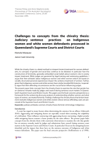 Challenges to concepts from the chivalry thesis: Judiciary sentence