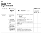 Learning Targets- Evolution (ch 191617)