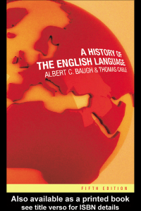 A History of the English Language