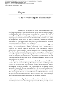 "Chapter 1 ""The Wretched Spirit of Monopoly"""