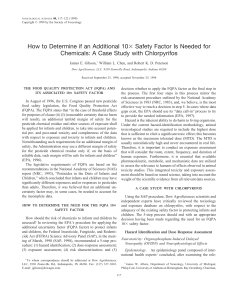 How to Determine if an Additional 10 Safety Factor Is Needed for
