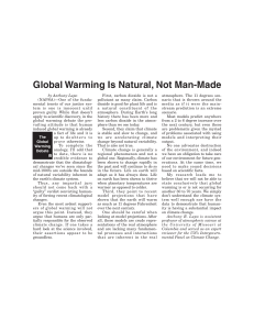 Global Warming Is Natural, Not Man-Made