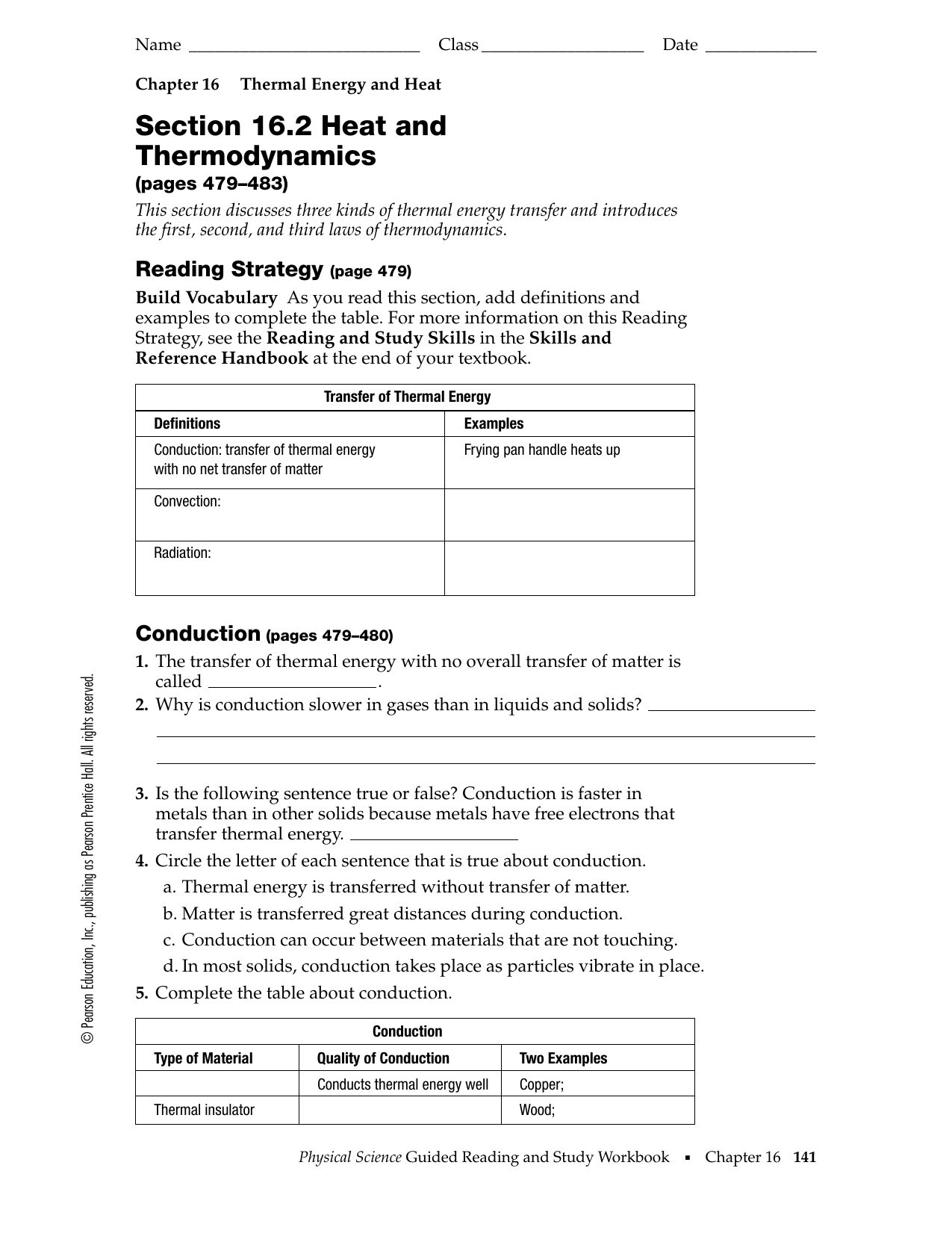 Section 16 2 Heat And Thermodynamics Worksheet Answer Key ...
