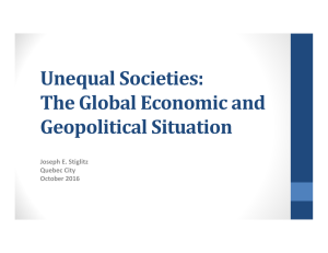 Unequal Societies: The Global Economic and Geopolitical Situation