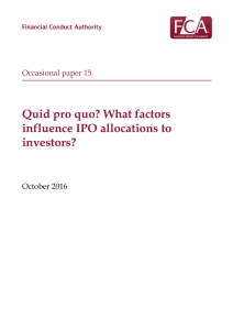 Quid pro quo? What factors influence IPO allocations to