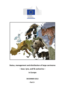 Status, management and distribution of large carnivores