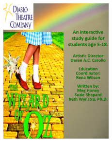 Wizard of Oz Study Guide