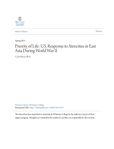 US Response to Atrocities in East Asia During World War II