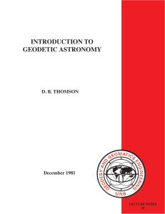 introduction to geodetic astronomy