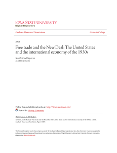 Free trade and the New Deal - Iowa State University Digital Repository