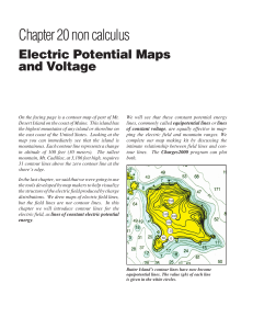 Electric Potential Maps and Voltage
