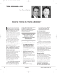 Income Trusts: Is There a Bubble?