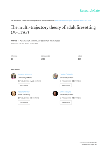 The multi-trajectory theory of adult firesetting (M