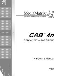 CAB 4N Manual - Peavey Commercial Audio