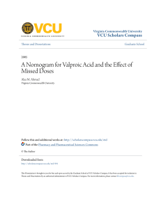 A Nomogram for Valproic Acid and the Effect of Missed Doses