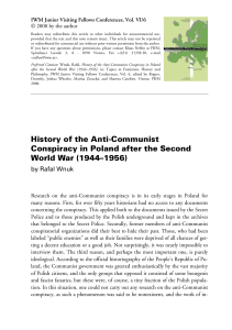 History of the Anti-Communist Conspiracy in Poland