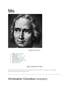 Christopher Columbus Print - Biography.com
