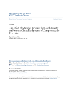 The Effect of Attitudes Towards the Death Penalty on Forensic