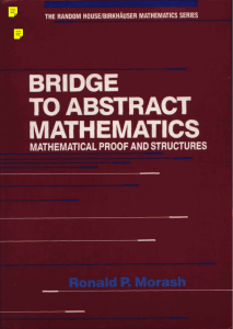Bridge to Abstract Mathematics: Mathematical Proof and