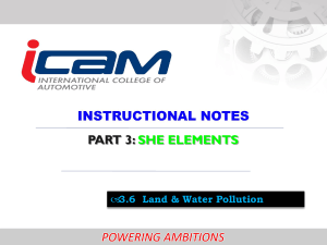 Land Pollution, Water Pollution