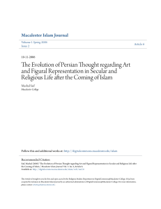 The Evolution of Persian Thought regarding Art and Figural