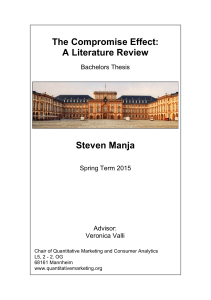 The Compromise Effect: A Literature Review