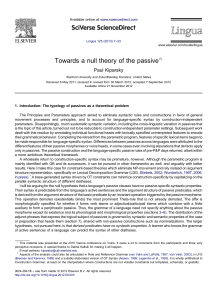 Towards a null theory of the passive