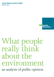 What people really think about the environment