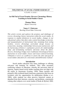 The Journal of Social Studies Research An Old Fad of Great