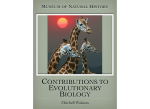 contributions to evolutionary biology