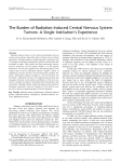 The Burden of Radiation-Induced Central Nervous System Tumors