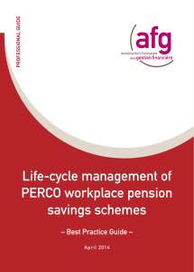 Life-cycle management of PERCO company pension savings