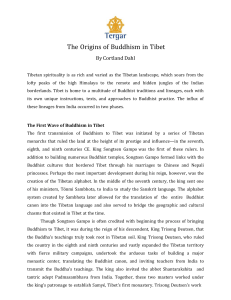 The Origins of Buddhism in Tibet