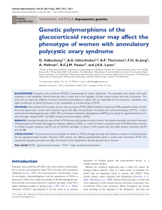 Genetic polymorphisms of the glucocorticoid receptor may affect the