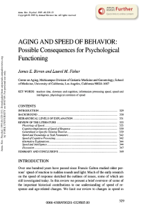 Aging and Speed of Behavior: Possible