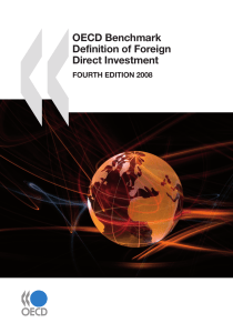 OECD Benchmark Definition of Foreign Direct Investment