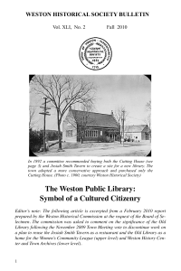 Fall 2010:5 - Weston Historical Society
