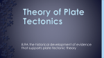8.9A the historical development of evidence that supports plate