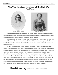 The Two Harriets: Heroines of the Civil War