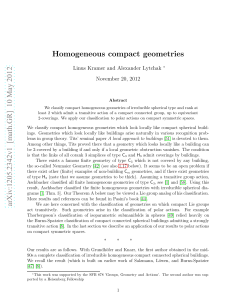 arXiv:1205.2342v1 [math.GR] 10 May 2012 Homogeneous compact