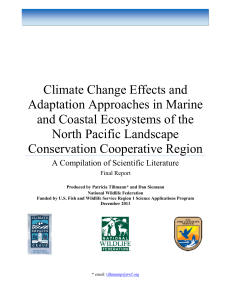 Climate Change Effects and Adaptation Approaches in Marine and