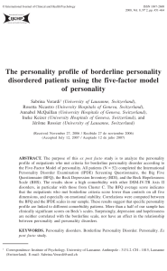 The personality profile of borderline personality disordered patients