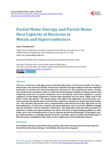 Partial Molar Entropy and Partial Molar Heat Capacity of Electrons in