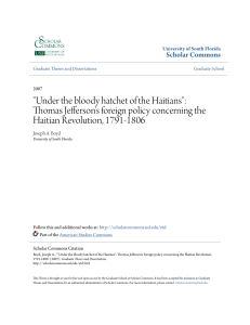 Under the bloody hatchet of the Haitians