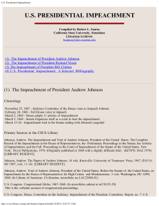 US Presidential Impeachment - CSUStan – Library