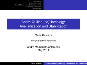 Andr´e-Quillen (co)Homology, Abelianization and Stabilization