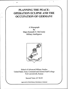 planning the peace: operation eclipse and the occupation of germany