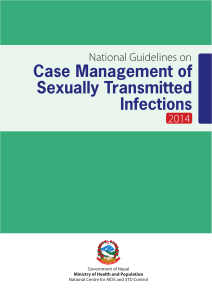 Case Management of Sexually Transmitted Infections